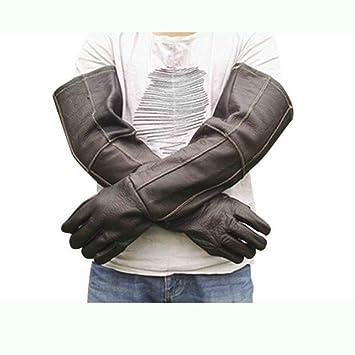 Gloves Protección del Trabajo Guantes de Soldadura de Cuero Alargado Soldador Wear-Resistant Soldadura Trabajo Alta Temperatura actualización Especial ...