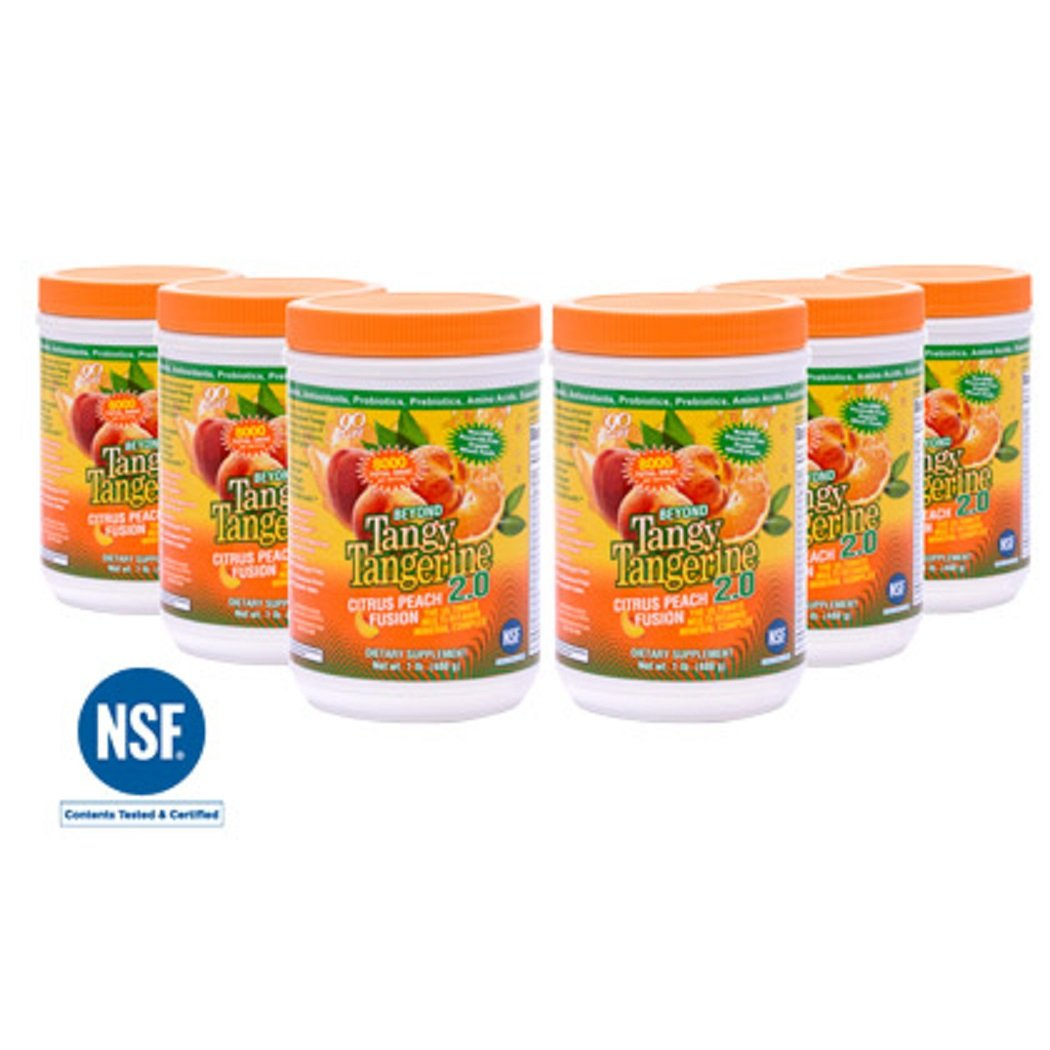 6 Pack 480g Canisters Beyond Tangy Tangerine 2.0 Citrus Peach Fusion Youngevity Multivitamin (Ships Worldwide) by Youngevity