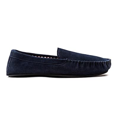 14e8a326c0cfb Clarks Kite Jetway Mens Slippers 9 Navy Suede: Amazon.co.uk: Shoes ...