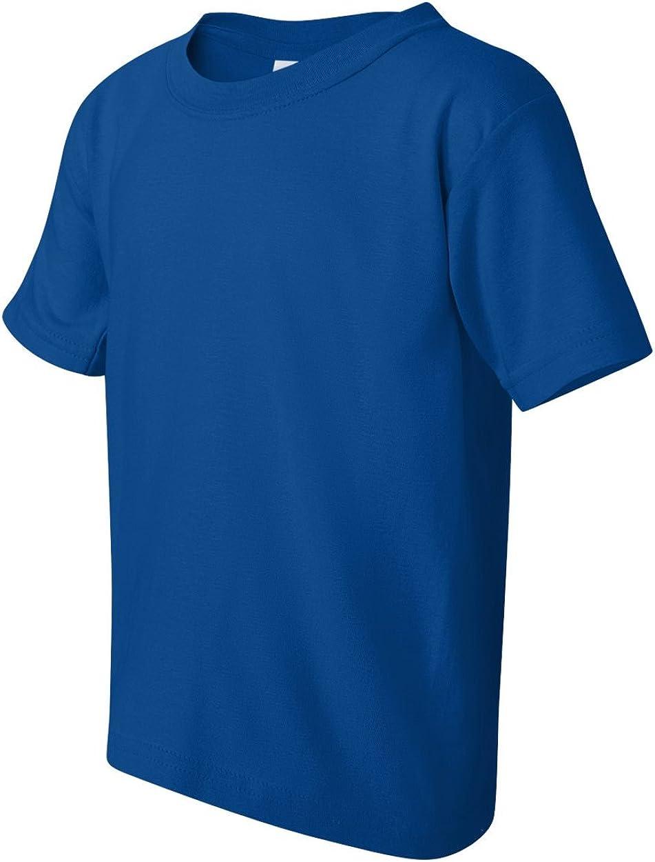-ROYAL -L-12PK G500B Heavy Cotton T-Shirt Gildan Boys 5.3 oz