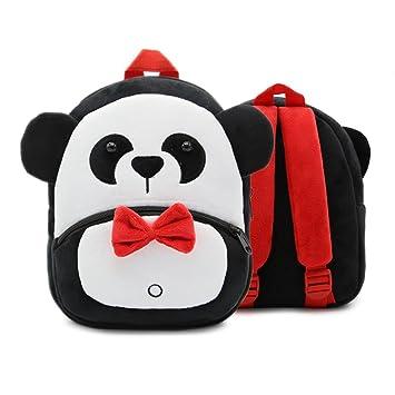 XLHMILY Mini dibujos animados 3D Mochila Infantiles Niños mochila animal panda unicornio mochila algodón de jardín de infantes para niñas o niños 2-6 años: ...