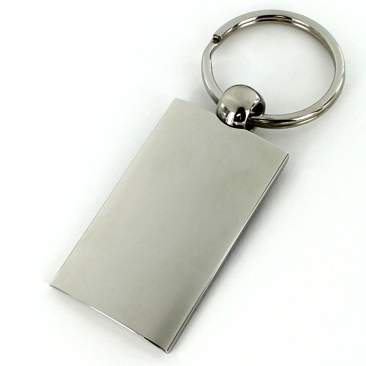 LINCOLN BLACK SPUN BRUSHED METAL KEY RING