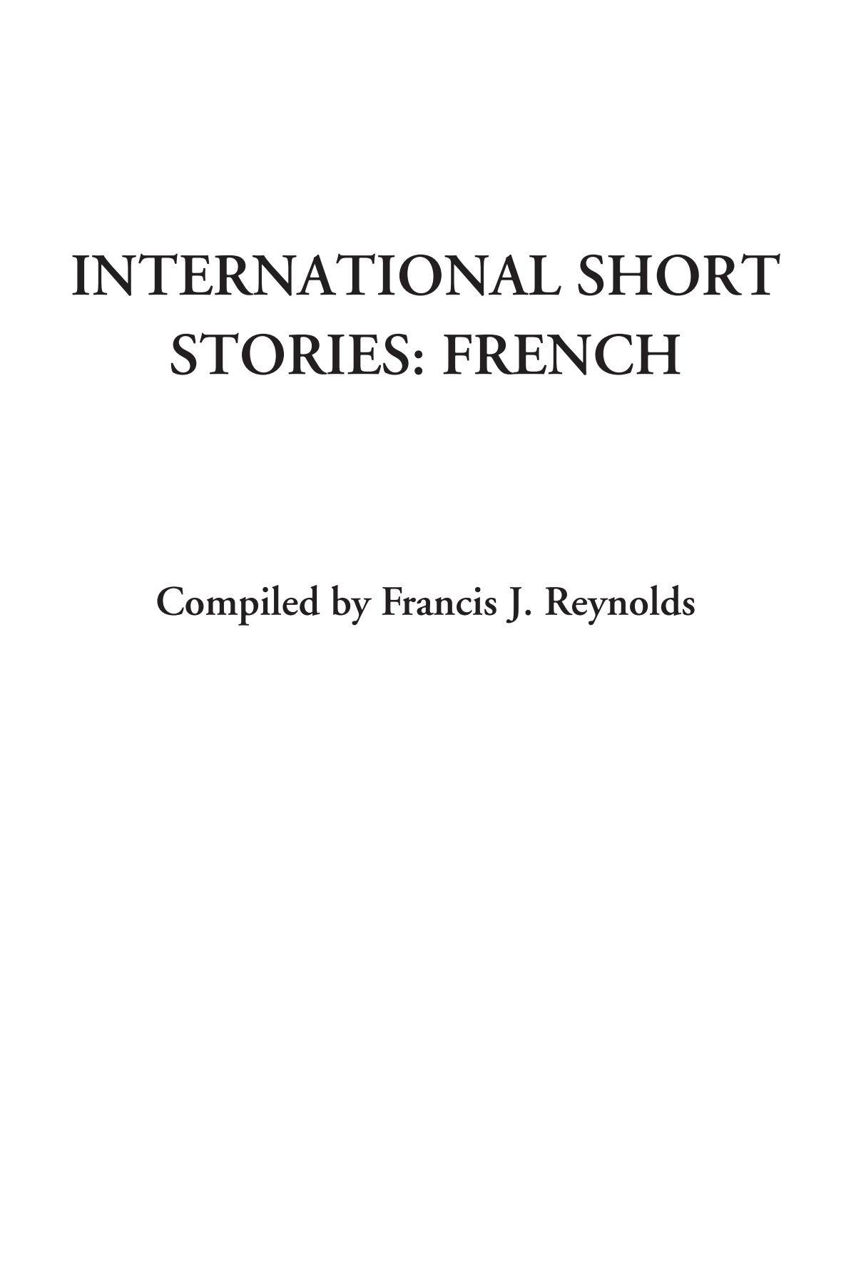 Read Online International Short Stories: French pdf epub