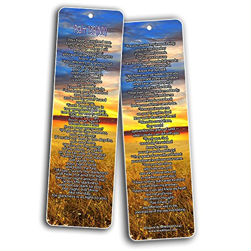 Bible Verse Bookmarks - Psalm Bookmarks - NIV Version (30-Pack) - Religious Christian Inspirational Gifts to Encourage Men Women Boys Girls - Bible Study Sunday School War Room Decor by NewEights (Image #5)