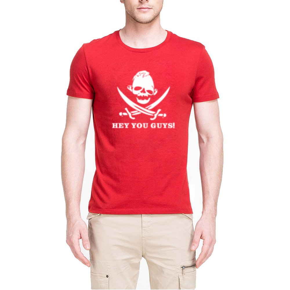 S Hey You Guys T Shirts Pirate Sloth Parody Joke Skull Goonie Tee