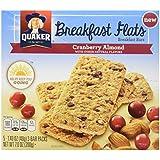 Quaker Breakfast Flats, Cranberry Almond, Breakfast Bars,7 Ounce (Pack of 8)
