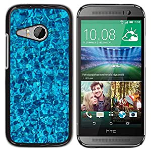 Be Good Phone Accessory // Dura Cáscara cubierta Protectora Caso Carcasa Funda de Protección para HTC ONE MINI 2 / M8 MINI // Pool Ripples Baby Bright Reflective