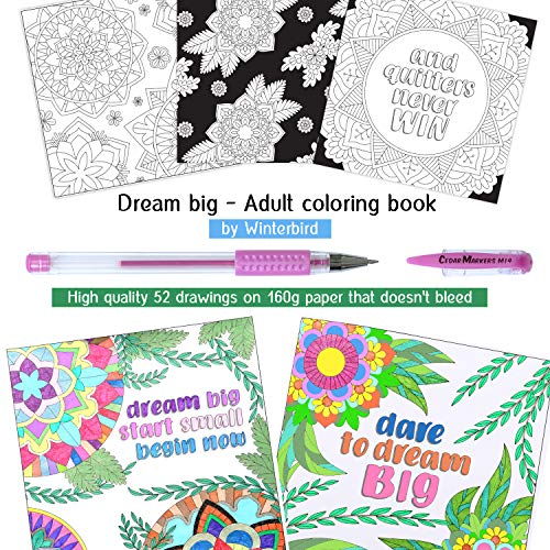 Cedar Markers Gel Pens. 200 Set with Unique Adult Coloring Book. 100 Pens Plus 100 Refills. Color Pens with Grip. Neon, Glitter, Metallic, Pastel Colors No Duplicates. Drawing Pens for Bullet Journal. by Cedar Markers (Image #7)
