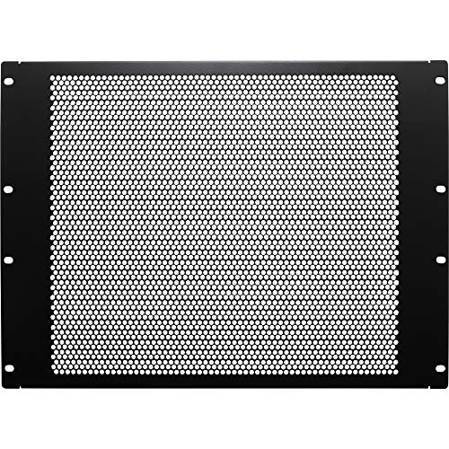 NavePoint 8U Blank Rack Mount Panel Spacer with Venting for 19-Inch Server Network Rack Enclosure Or Cabinet Black