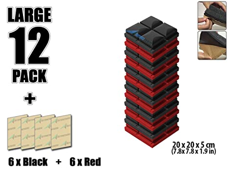 arrowzoom nueva combinación de colores de 12 Pack aislamiento acústico aislamiento seta hemisferio rejilla adhesiva pared