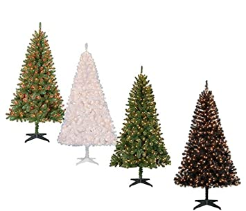 christmas tree and stand 65 ft pre lit madison pine clear or color lights new - Amazon Christmas Tree Stand
