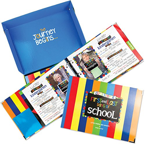 School Memory Book Keepsake Album, Scrapbook for Kids Memories Preschool to College, with Pocket for Every Grade, Class Photos, School Pictures ()