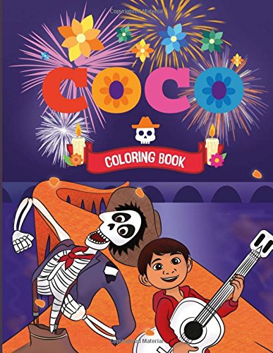 Coco Coloring Book: Disney Pixar Coloring Book for Kids