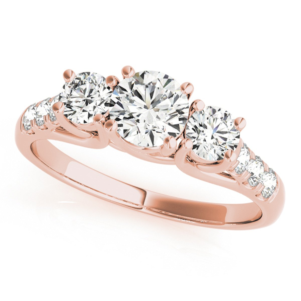 1/2 Carat Engagement Ring Crafted In 14k Solid Rose Gold
