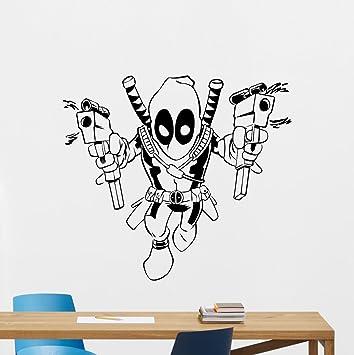 Amazon.com: Deadpool Wall Vinyl Decal Marvel Comics Superhero Wall ...
