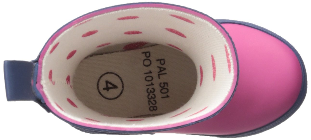 Hatley Kids' Classic Boots Girls Rain Accessory, Fuchsia Navy, 7 M US Toddler by Hatley (Image #11)