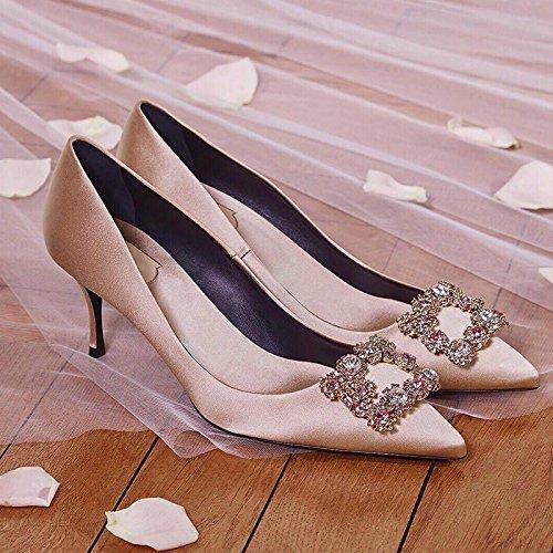 Fait Couleur Attacher La Black8cm Chaussures Heeled Lumière De Soie High Trou De Le GAOLIM Mariage Mariée Nu Talon Pour Dans De Satin Source D'Eau De X6vCqxwO