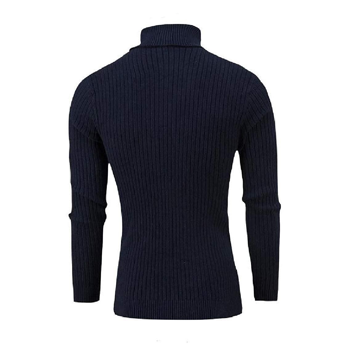 Hajotrawa Mens Jumper Juniors Pullover Turtle Neck Knitted Cable Sweater