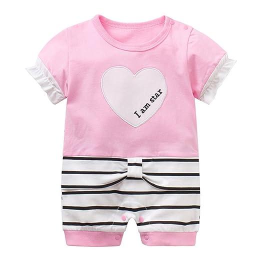4b48b677f Amazon.com  NOMSOCR Newborn Baby Boys Girls Summer Short Sleeve One ...