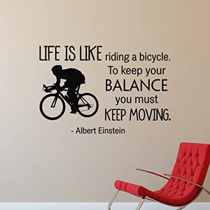 Albert Einstein Quote Wall Decal Life Is Like Riding A Bicycle