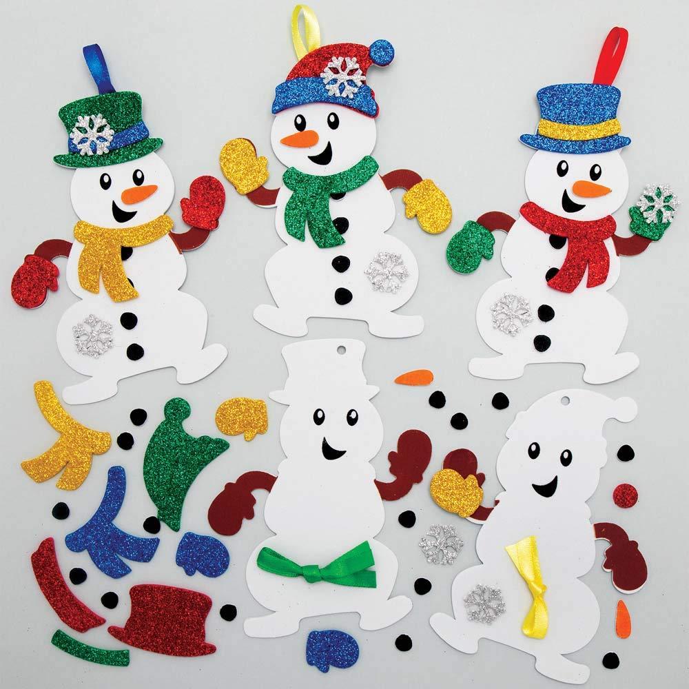 Deko Figur Kind mit Schneemann sortiert Junge oder Mädchen