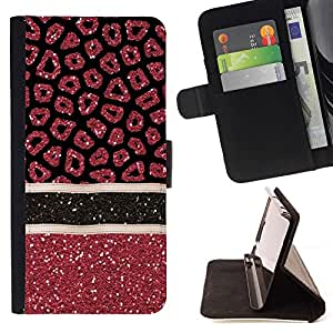 For LG G2 D800 Blood Medical Art Glitter Red Style PU Leather Case Wallet Flip Stand Flap Closure Cover