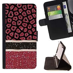 Sangre Medical Art Glitter Red- Modelo colorido cuero de la carpeta del tirón del caso cubierta piel Holster Funda protecció Para Apple iPhone 5 / iPhone 5S
