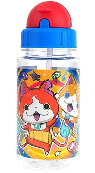 Yokai Watch - Botella de agua de paja tritana sin BPA, resistente al frío y