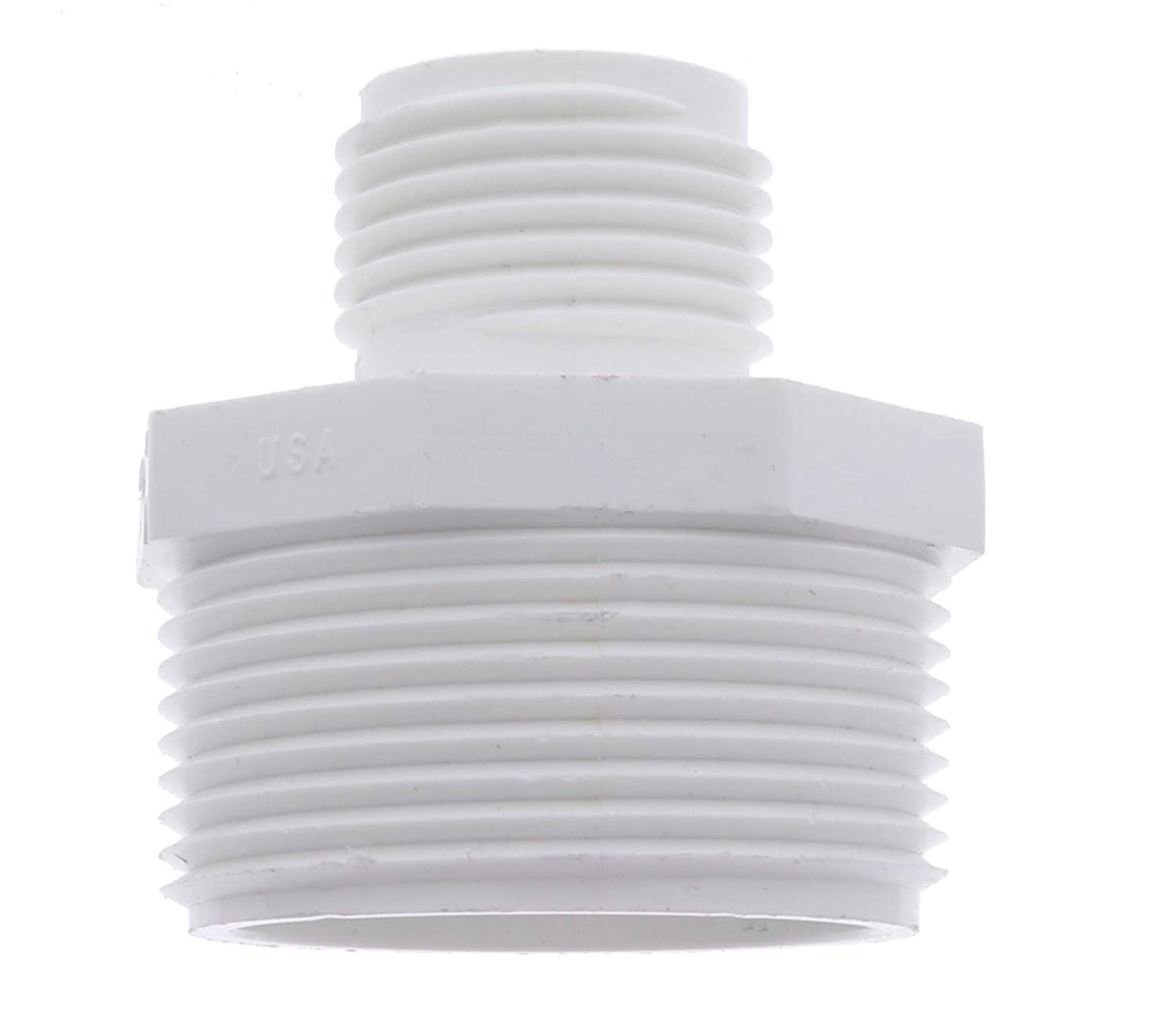"Van Enterprises PVC Garden Hose Adapter (Male 1.25"" NPT x 3/4"" GHT) for Sump Pump. (Available 1.5"" and 1.25"" Adapters)"