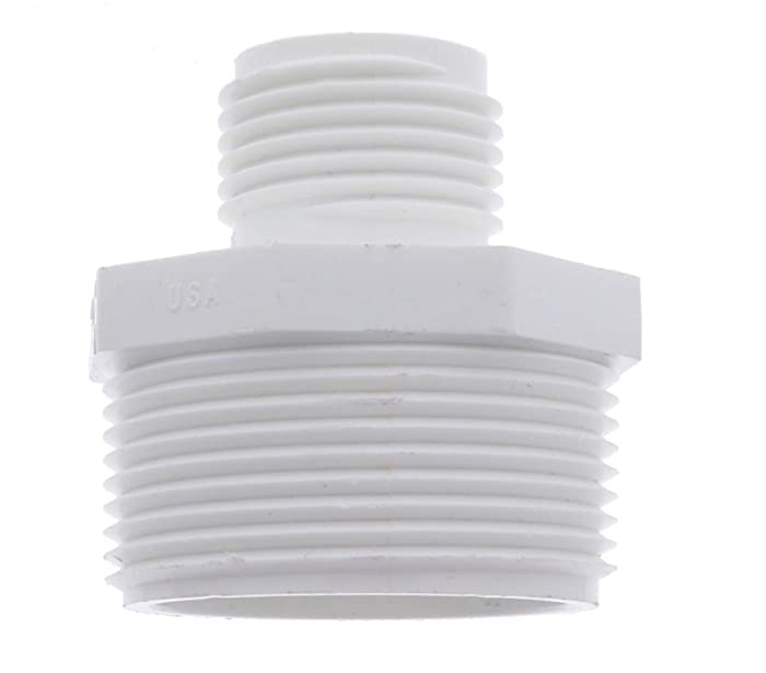 """Van Enterprises PVC Garden Hose Adapter (Male 1.25"""" NPT x 3/4"""" GHT) for Sump Pump. (Available 1.5"""" and 1.25"""" Adapters)"""