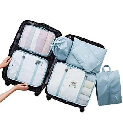 Juego de 7 Bolsas organizadoras para Maletas de Viaje ...