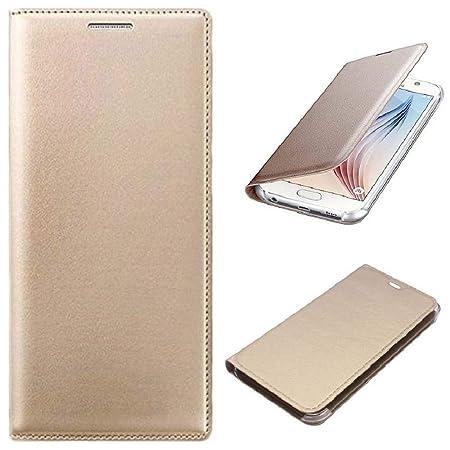 MuditMobi Premium Leather flip Cover for Micromax Canvas Unite 4 Plus Q427  Golden Mobile Accessories