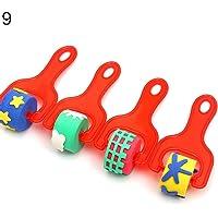 guoYL26sx Baby Toys Children Early Education Painting Tool Kids Art Sponge Paint Roller Brush Set - 9#