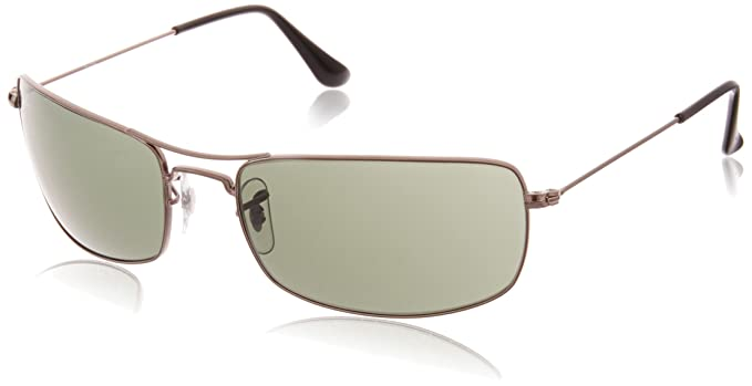 Ray-Ban Rectangular Men s Sunglasses (0RB3334I00461 Green)  Amazon ... 6f6df06db6