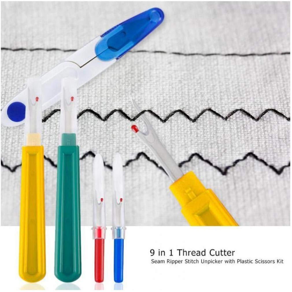 9 in 1 manico tagliafilo utensile da cucito tagliare taglia-filo in plastica forbici per tagliare