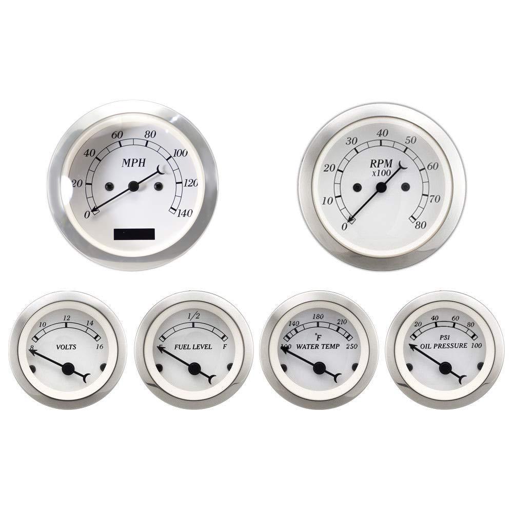 "Chrome bezels 2/"" //52mm Electrical Oil Pressure Temperature Volt Fuel Gauge"