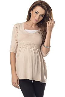 64059a86fc5c6 Purpless Maternity Top Tunic A Line Pregnancy Shirt Blouse for Pregnant  Expecting Women 5200