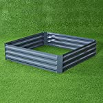 Outsunny Galvanized Metal Raised Garden Bed 6 ✅The best and easiest way to grow your own garden at home ✅Solid metal construction with anti-rust coating for long-time use ✅Extra deep design makes it perfect for long rooted plants
