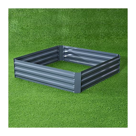 Outsunny Galvanized Metal Raised Garden Bed 2 ✅The best and easiest way to grow your own garden at home ✅Solid metal construction with anti-rust coating for long-time use ✅Extra deep design makes it perfect for long rooted plants