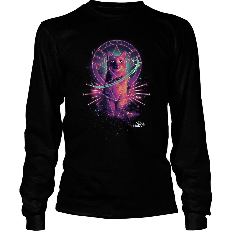 Captain Movie Goose Galaxy Portrait Graphic T Shirt Cat Tees 8106
