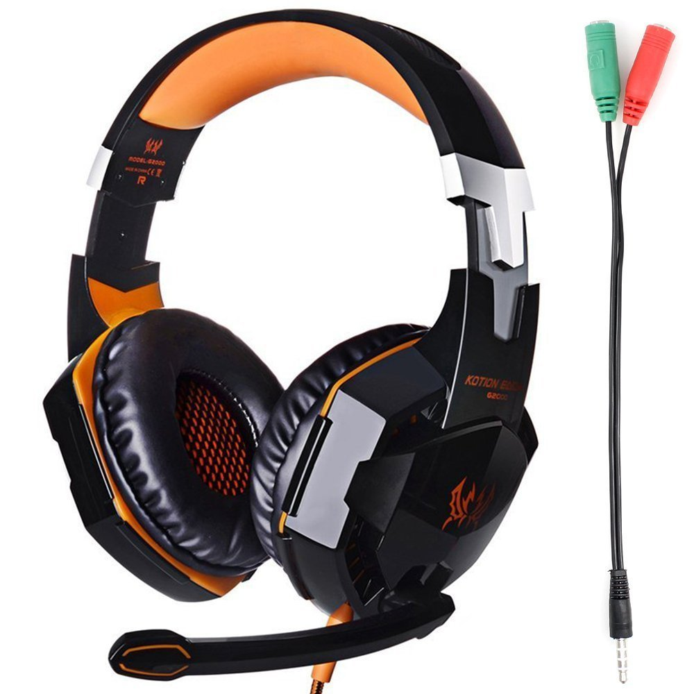 Kotion Each G2000 Gaming Headset Earphone 35mm Jack With Led Backlit And Mic Stereo Bass Noise Cancelling For Computer Game Player By Senhaiblack Princess Rotary Phone Wiring Diagram