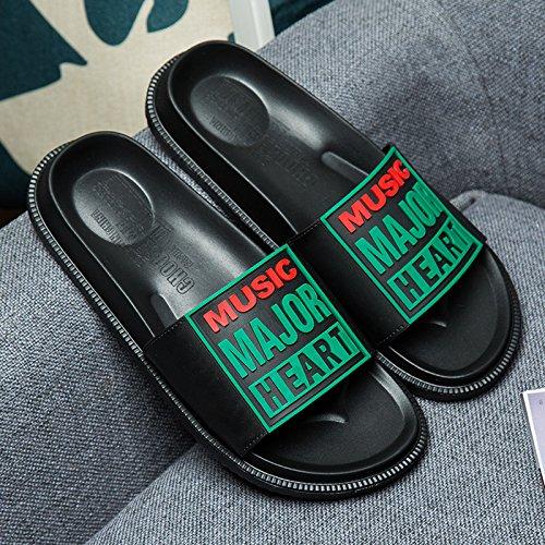 uomini anti 43 e cool pantofole Estate slittamento coppie personalizzato pantofole e bagno interno nero trascinare verde fankou q7tzWgq