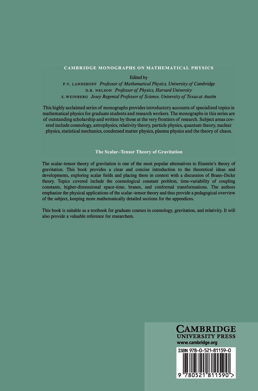 The Scalar-Tensor Theory of Gravitation (Cambridge Monographs on Mathematical Physics)