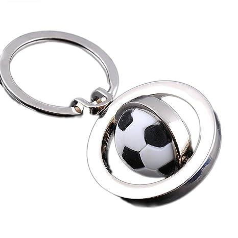 Vikenner Fútbol Giratorio Llavero de fútbol Creativo 3D ...