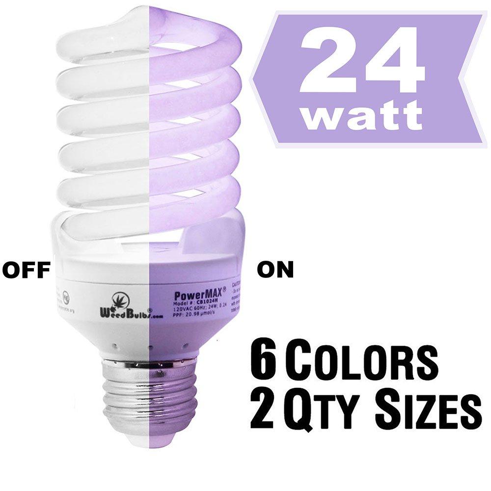 WeedBulbs : PowerMAX - SINGLE STAGE / FULL SPECTRUM CFL GROW LIGHT 24-PACK, Model:CB1024MB, 24w/120v/60Hz by WeedBulbs® (Image #1)