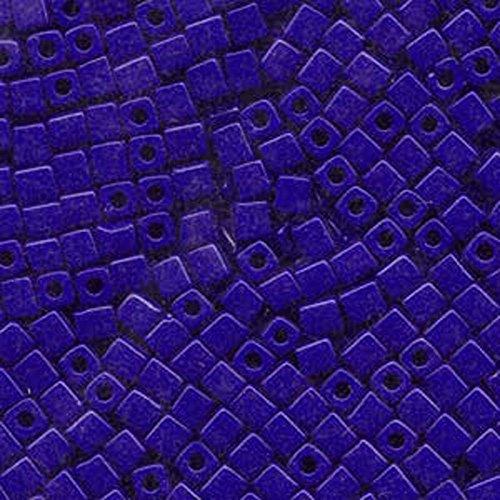 20Gr Opaque Cobalt Miyuki 4mm Square Cube Glass Seed Beads