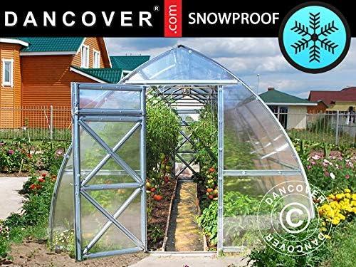Dancover Invernadero de policarbonato, Arrow 6m², 3x2m, Plateado: Amazon.es: Jardín