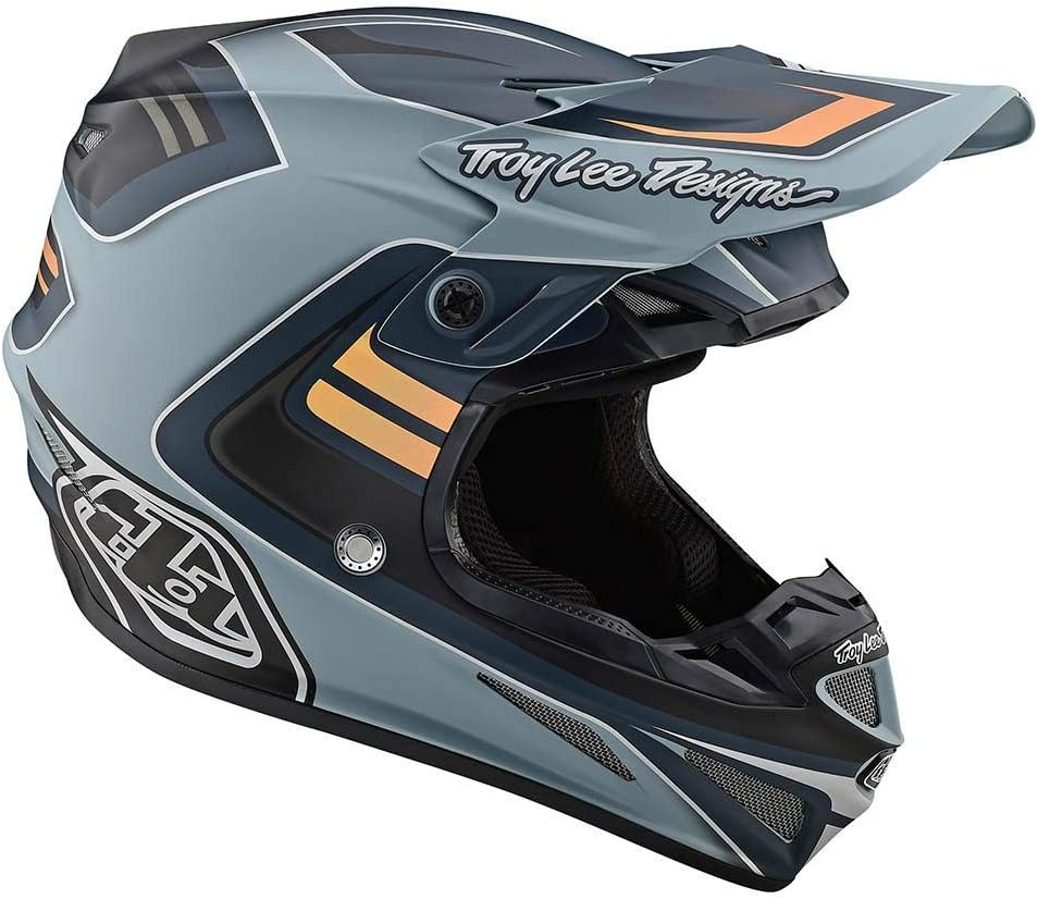 Large Yellow//Blue Troy Lee Designs 2020 SE4 Composite Helmet with MIPS Flash