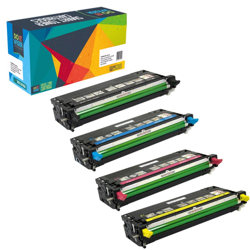 Do it Wiser Compatible High Yield Toner for Dell 3110 3110cn 3115 3115cn - 8,000 pages - 4 Pack