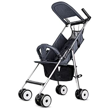 DWhui Cochecito Ligero Puede Sentarse y tumbarse Paraguas Plegable Carro Ligero Ultra-bebé Coche portátil en el avión Adecuado para 6-36 Meses de Uso del ...
